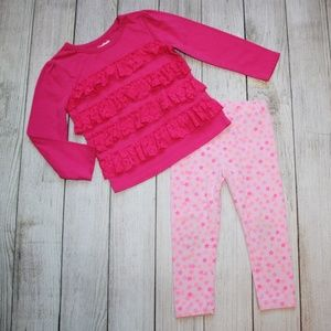 2T Girls Outfit Pants & Shirt Pink